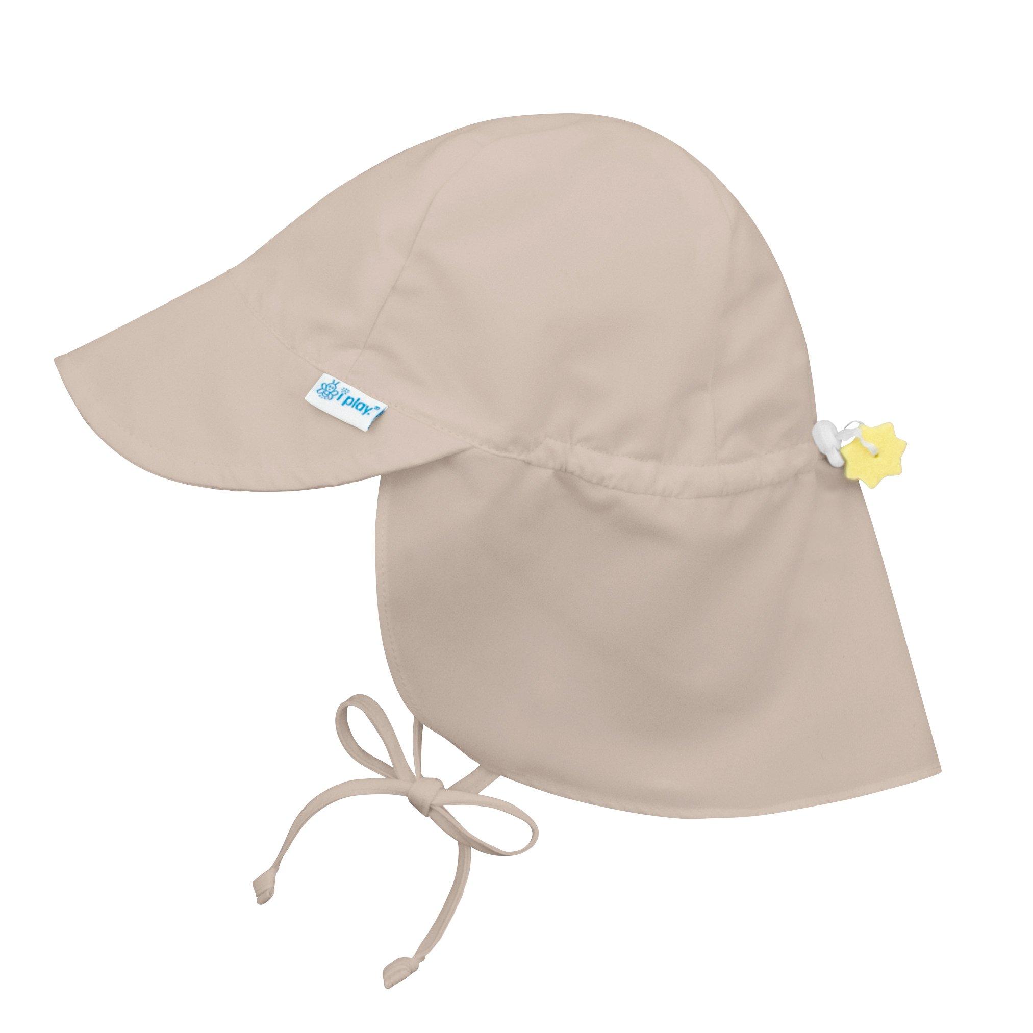 i play. Toddler Flap Sun Protection Swim Hat, Khaki, 2T-4T
