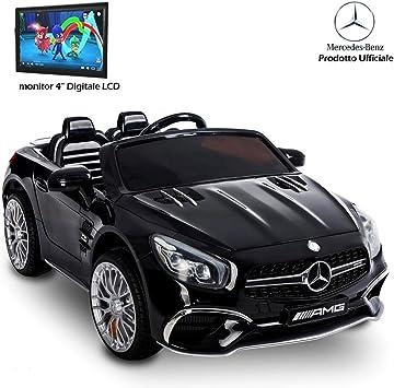 Auto Macchina Elettrica per Bambini Mercedes SL 65 12V con Schermo TV Mp4