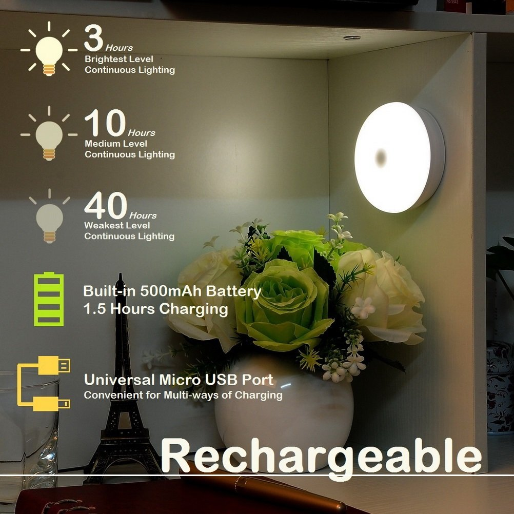 Rechargeable Touch Light Rtsu Diy Stick Anywhere Led Night Lamp Tap