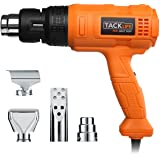 Tacklife HGP70AC Heavy Duty Heat Gun 1500w 122℉~ 1022℉(50℃- 550℃)with Three-Temp Settings Four Nozzles with Overload Protection for Stripping Paint, Bending Pipes, Lighting BBQ