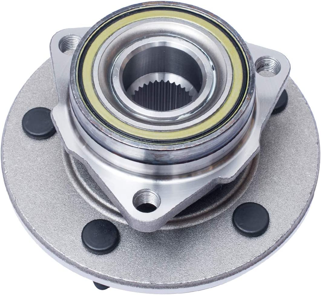 Pair 5 Lug W//o ABS No ABS Compatible With 2000 2001 Dodge Ram 1500 Front Wheel Hub and Bearing Assembly 4WD Models,2-Wheel ABS AUQDD 515038 x2