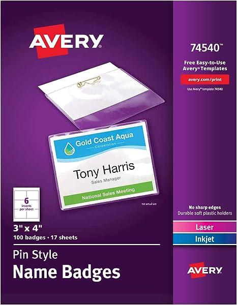 Amazon.com: Avery porta identificación de 3x4 ...