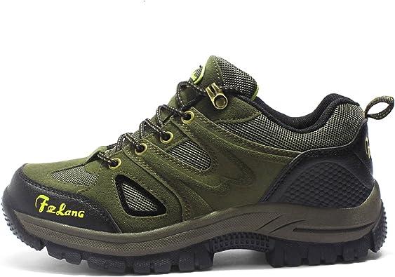 Botas de Senderismo Impermeables para Hombre,de Ocio al Aire Libre Zapatos de Deporte Zapatillas de Senderismo: Amazon.es: Zapatos y complementos