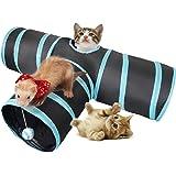Yiteng トンネルペット用のおもちゃ 猫3通 ペット玩具 猫トンネル 折りたたみ キャットトンネル 噛むおもちゃ ボールに付き