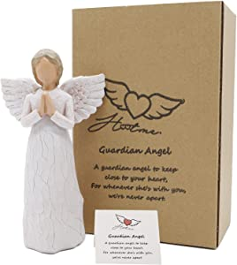 Angel of Prayer, Angel Figurine in Memory of Loved One Angel Statue to Express Sympathy Angel Memorial Gifts Hand-Painted Figure 6.3 Inch