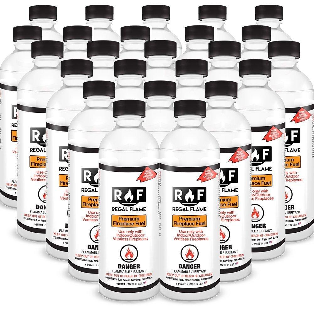 Regal Flame Premium Ventless Bio Ethanol Fireplace Fuel - 24 Quart