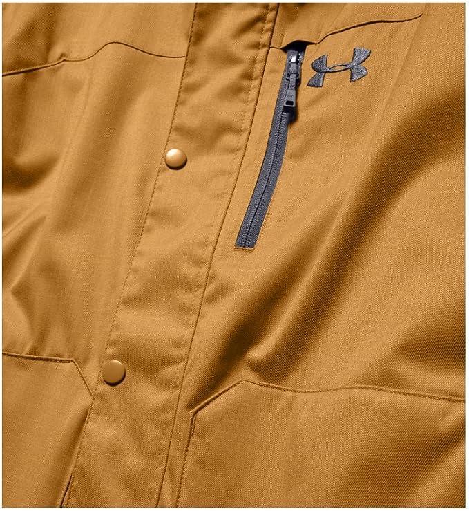 Under Armour 安德玛 Storm ColdGear UA 防风防水透气 男式冲锋衣夹克 1247044 L码2.8折.95 海淘转运到手约¥386
