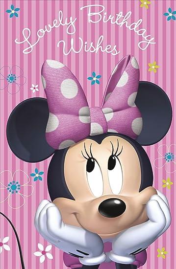 Amazon Lovely Birthday Wish Disney Minnie Mouse Girl Pink Open