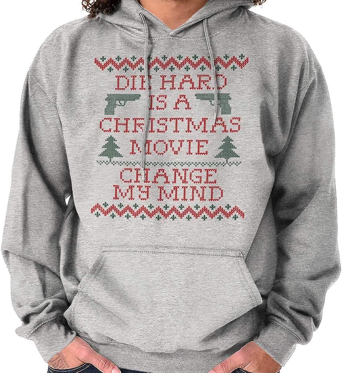 Brisco Brands Drunk Xmas Wine Christmas Joke Ugly Sweater Hoodie