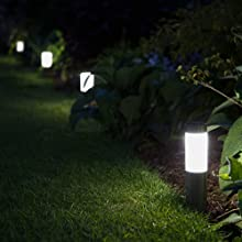 Mini London Solar Powered Outdoor Garden Post Lights (Set of 4)