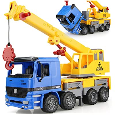"15"" Oversized Friction Crane Truck Construction Vehicle Toy for Kids"