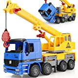 """15"""" Oversized Friction Crane Truck Construction Vehicle Toy for Kids"""