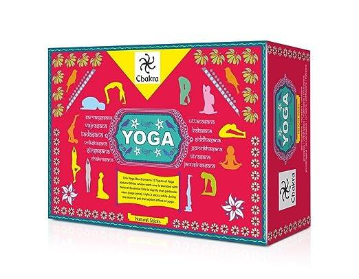 Chakra Yoga Natural y la Mano Incienso de diseño - 12 fragancias para 12 Asanas - 120 Palillos Hechos Productos a Base de Plantas - CREA una atmósfera ...