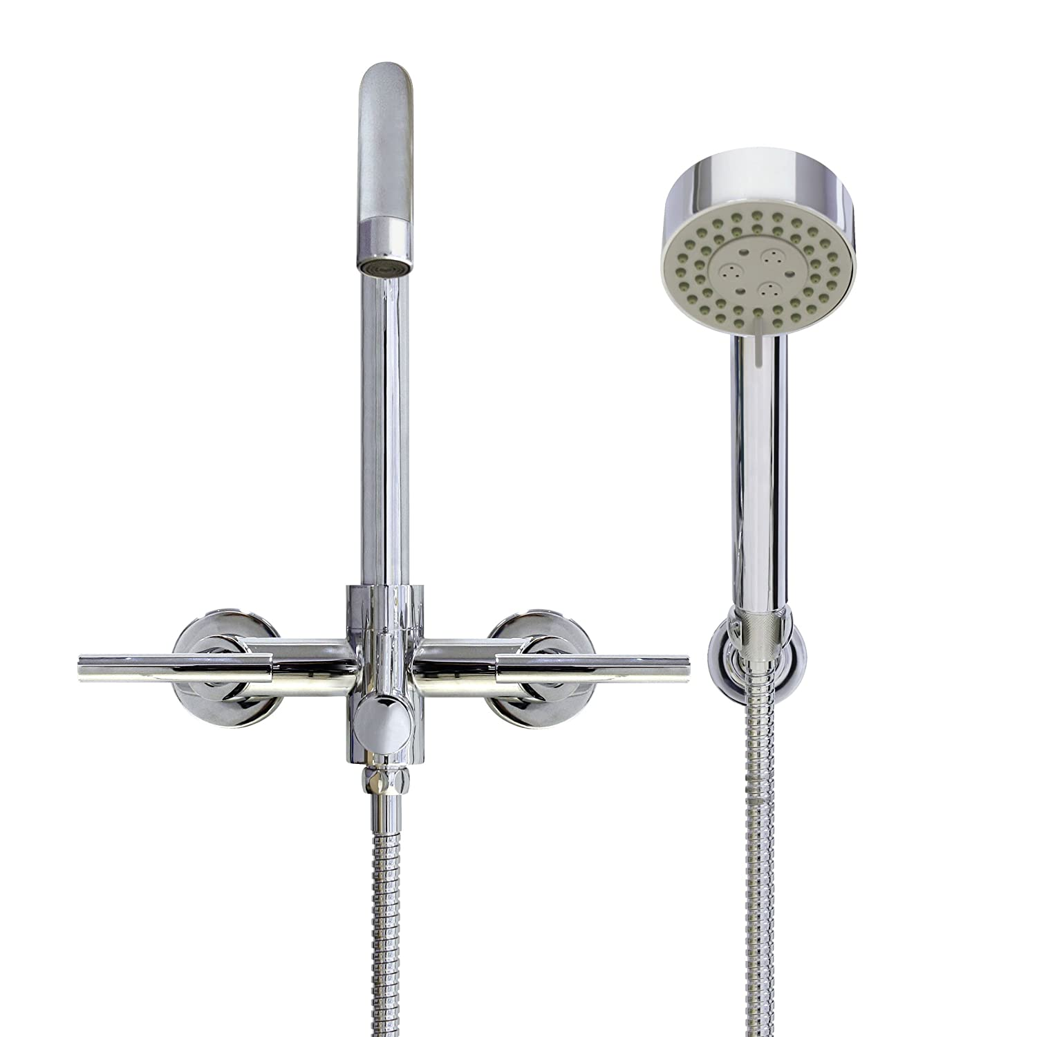 MODONA European Style Tub & Shower Mixer with Hand Held Shower Set ...