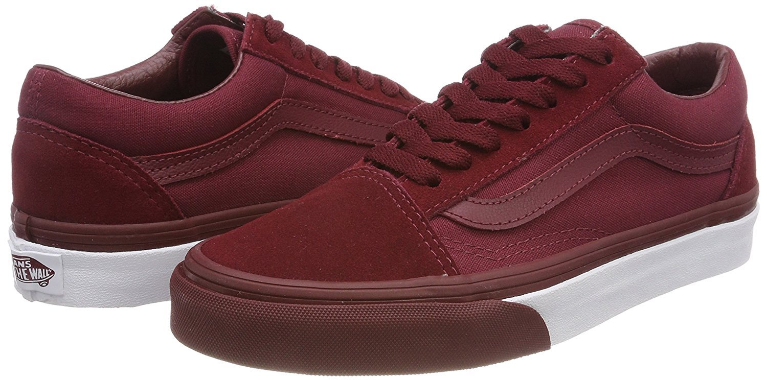 Vans Old Skool Unisex Adults' Low-Top Trainers B07DN2L9Y8 40.5 M EU / 9.5 B(M) US Women / 8 D(M) US Men|Mono Bumber / Red