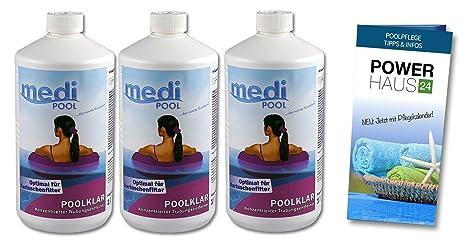 Medi Pool 3 x 909601 MP Pool transparente, 3 litros, Hace la ...