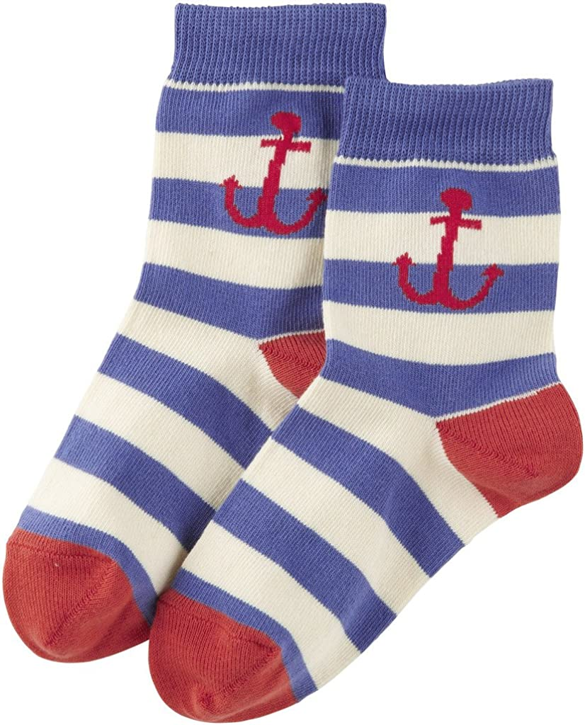 Piccalilly In cotone biologico verde blu Boys Ocean calze 2 paia
