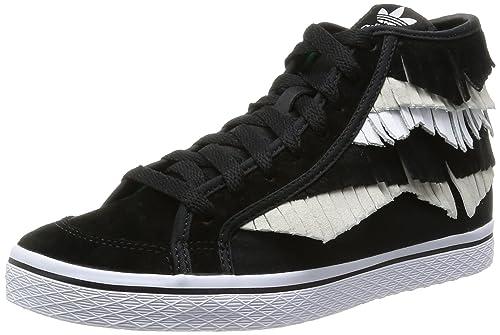 adidas Honey Mid Fringe W, Baskets pour Femme - Noir - Noir ...