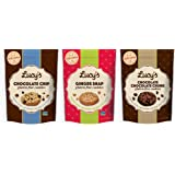 Lucy's Gluten-Free Cookies 3 Flavor Variety Bundle, (1) each: Chocolate Chip, Ginger Snap, Chocolate Chunk - 5.5 Ounces