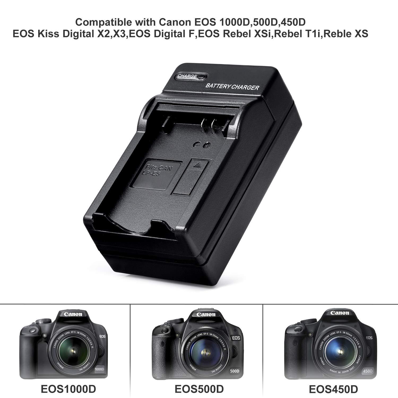 Amazon.com: Cargador de batería de cámara para Canon LP-E5 ...