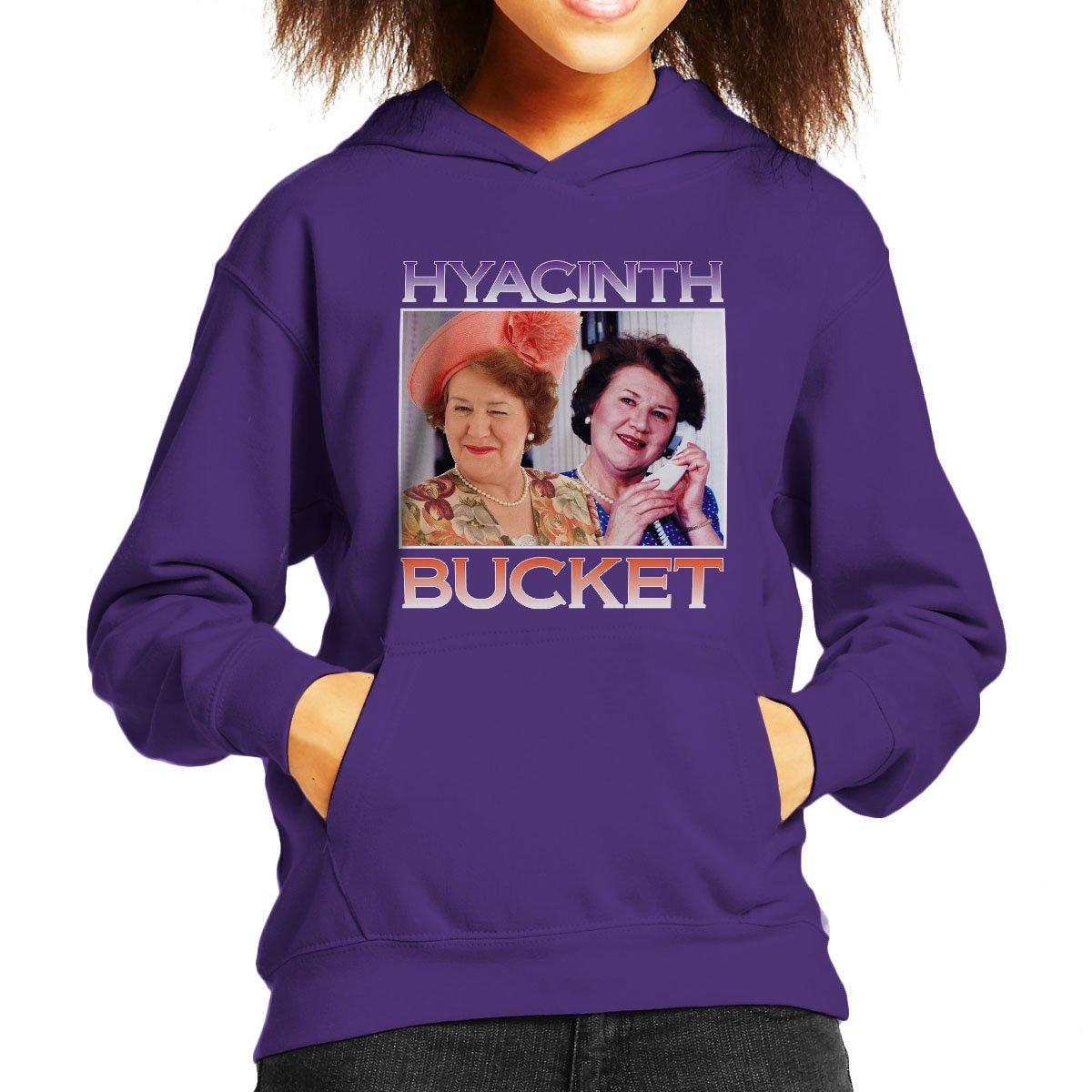 Coto7 Hyacinth Bucket Keeping up Appearances Montage Kids Hooded Sweatshirt