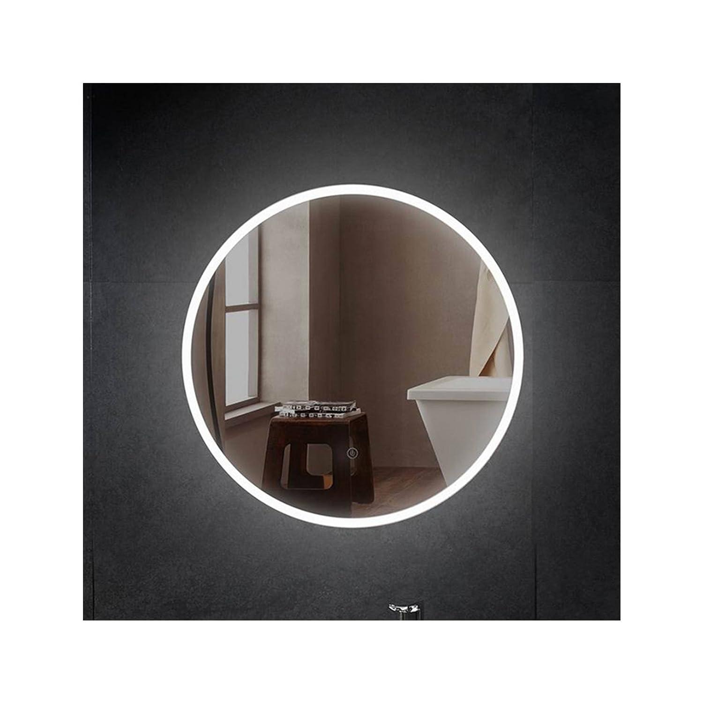 PonteSino Runder Badspiegel LED Beleuchtung Leuchtspiegel Wandspiegel Ø60cm Hängespiegel