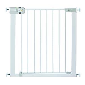 Safety 1st Easy Close - Barrera de puerta, de metal, color blanco