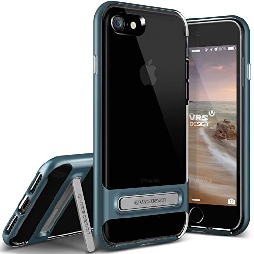 5 opinioni per VRS Design [Crystal Bumper]- Cover Ultra-Sottile in Morbido TPU per iPhone 7,