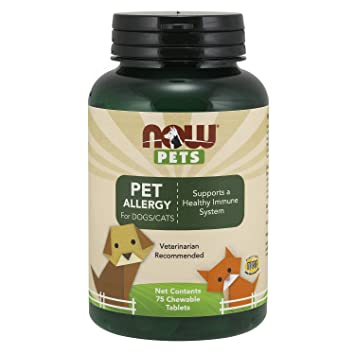 Amazon.com: Now Foods Pet alergia para perros/gatos 75 ...