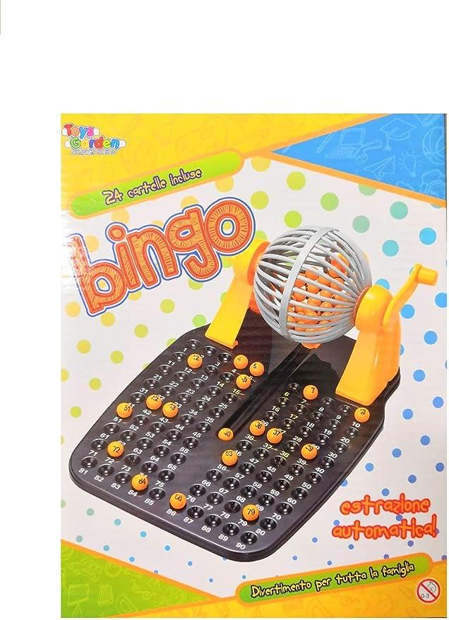 Bingo tómbola juego de mesa con 24 Carpetas beneficio de extracción automática: Amazon.es: Hogar