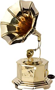 diollo Handmade Gramophone Showpiece Antique/Vintage Style Home Décor for Living Room, Office, Hotels, Gift Item