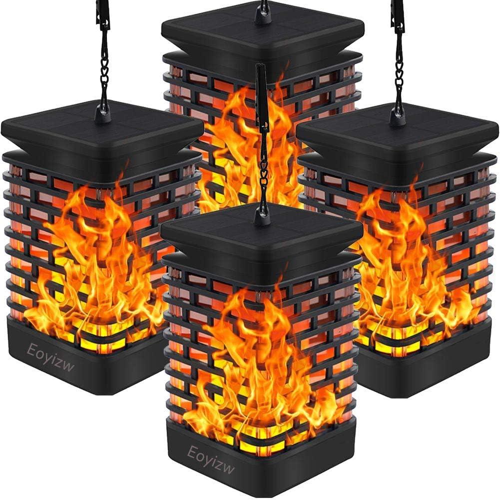 Amazon.com: EOYIZW Luces de llama solares para colgar ...