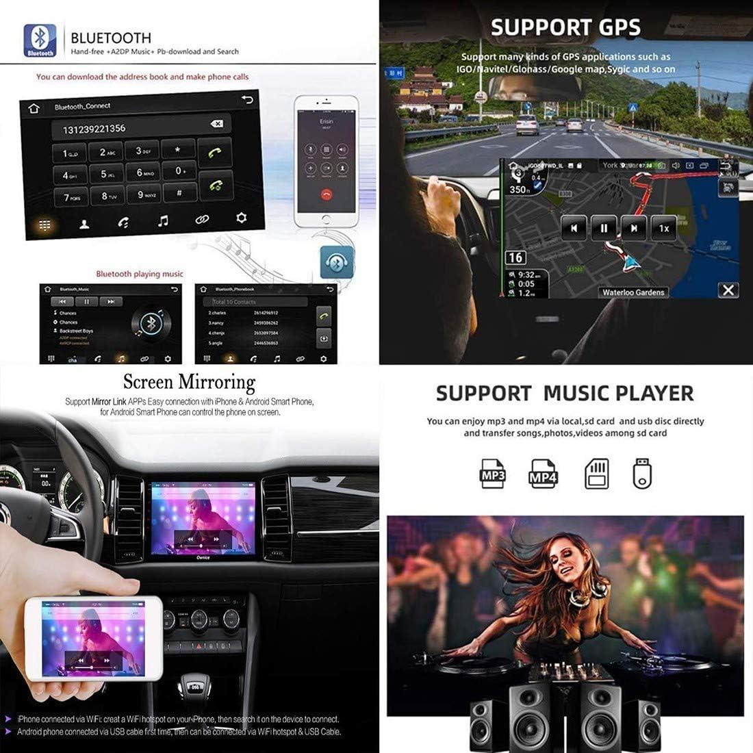 Android 8.1 Voiture St/ér/éo GPS Navigation Lecteur Vid/éo 9 Pouces avec Canbus pour Mazda Cx-7 2008-2015 Support Commande au Volant//Appuie-T/ête Miroir