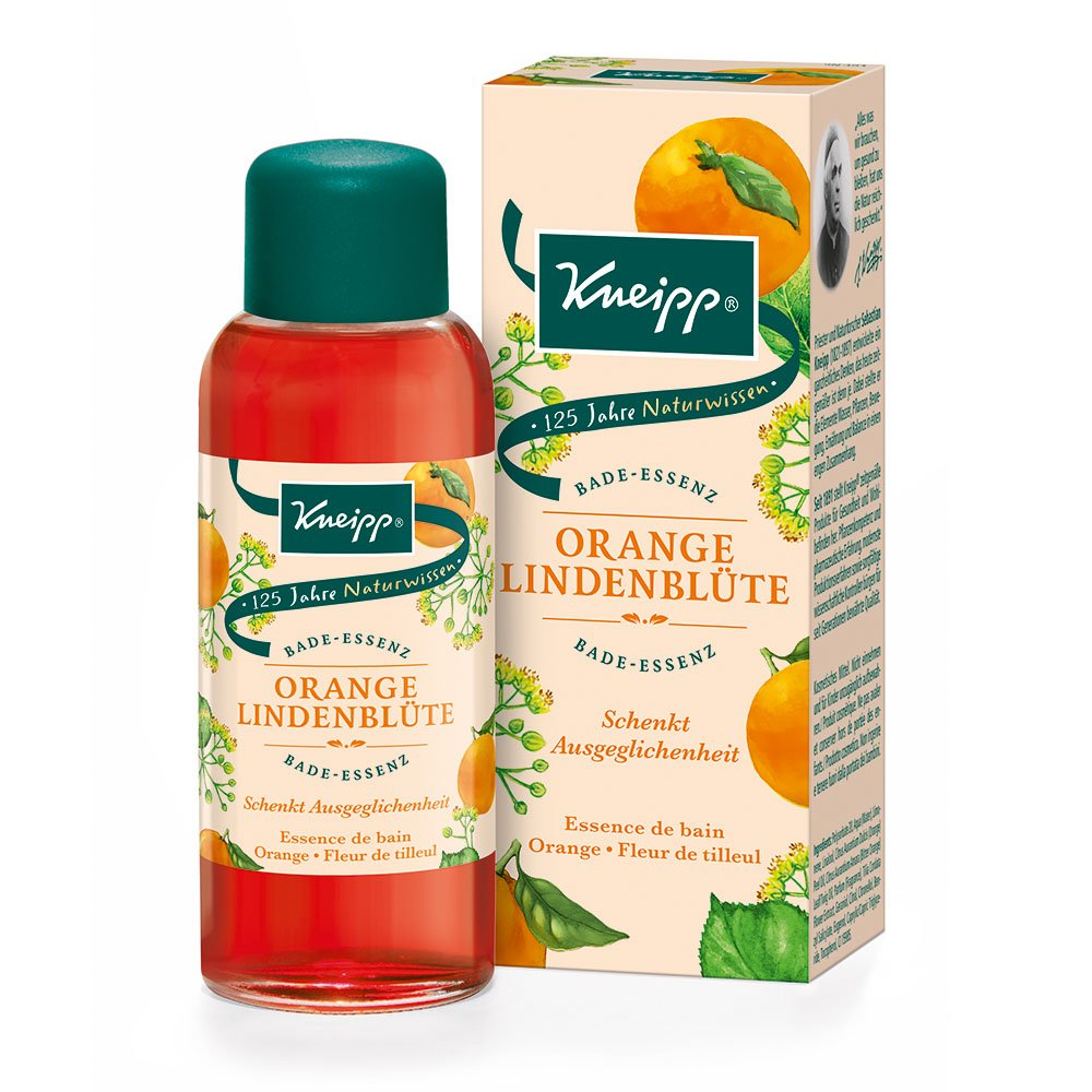 Kneipp Esencia de baño naranja tilo flor, 2unidades (2x 100ml) 914227