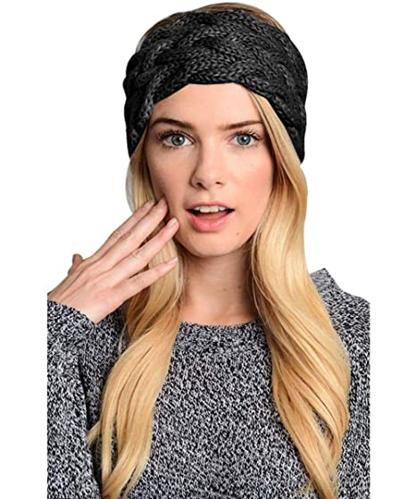 Womens Winter Knitted Headband Crochet Twist Hair Band Headwrap