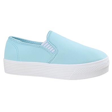 e58fe621839a Damen Sneaker Slip-Ons Slipper Blumen Dandy Flats Plateau Flache Plateau  Damen Sneakers Stoff Schuhe