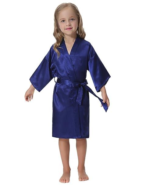 Aibrou Unisex Kimono Niño Niñas Bebe Batas Cortos Lenceria de Aspecto Brillante: Amazon.es: Ropa y accesorios