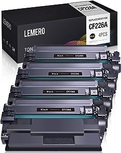 LEMERO Compatible Toner Cartridge Replacement for HP 26A 26X CF226A CF226X - for HP Laserjet Pro M402n M402dn M402dw MFP M426fdw M426fdn M426dw (Black, 4 Pack)