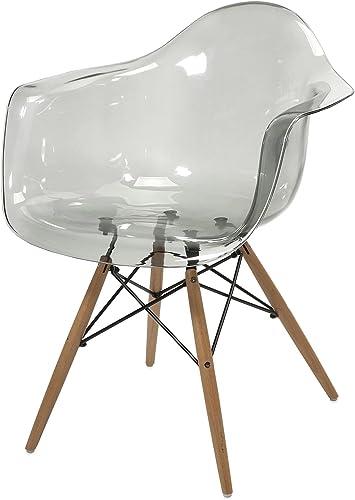 IMAX Beckett Grey Transparent Chair