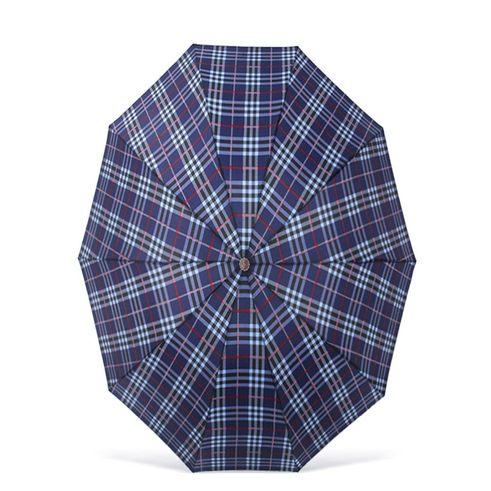 Guoke The Grid, Male, Folding Umbrella Very Large Business Umbrella Umbrellas With A Fine Two Umbrellas, Black - Red/White Grid by Guoke (Image #4)