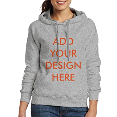 Design Your Own Add Image and Text Personalized Custom Women Hoodie  Sweatshirt (Ash - S 9ab2b3d413