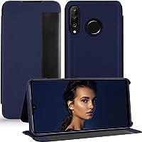 P30 Lite hoes compatibel met Huawei P30 Lite telefoonhoes Clear View Cover 360 Full Body Premium lederen flipcase…