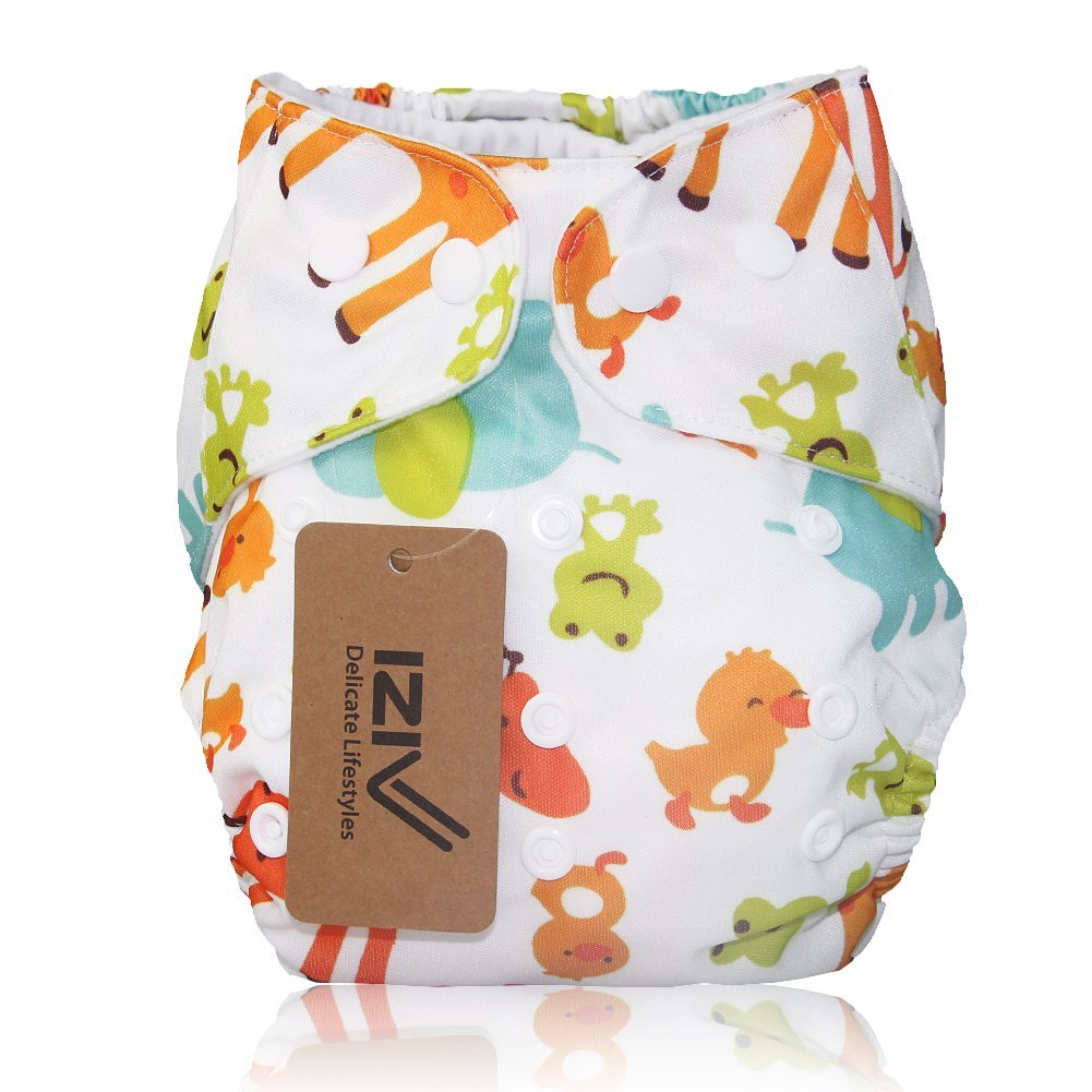 iZiv(TM) Appena Nato che Organico con 1 Spessa Inserire Impermeabile/Regolabile/Riutilizzabili/Lavabili Tasca Pannolino del Panno adatte Neonati 0-3 anni(Giraffa) Dlife IZ20160530PT