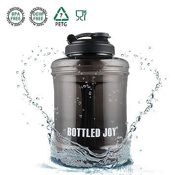 JIN DI LONG JJ Botella de Agua de Gran Capacidad para Bebidas, con asa de