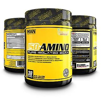 MAN Sports ISO-Amino BCAA Amino Acid Powder, Pineapple Express, 30 Servings,