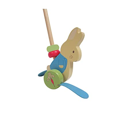 "Beatrix Potter Peter Rabbit Wooden Push-Along Toy, 32"" : Baby"