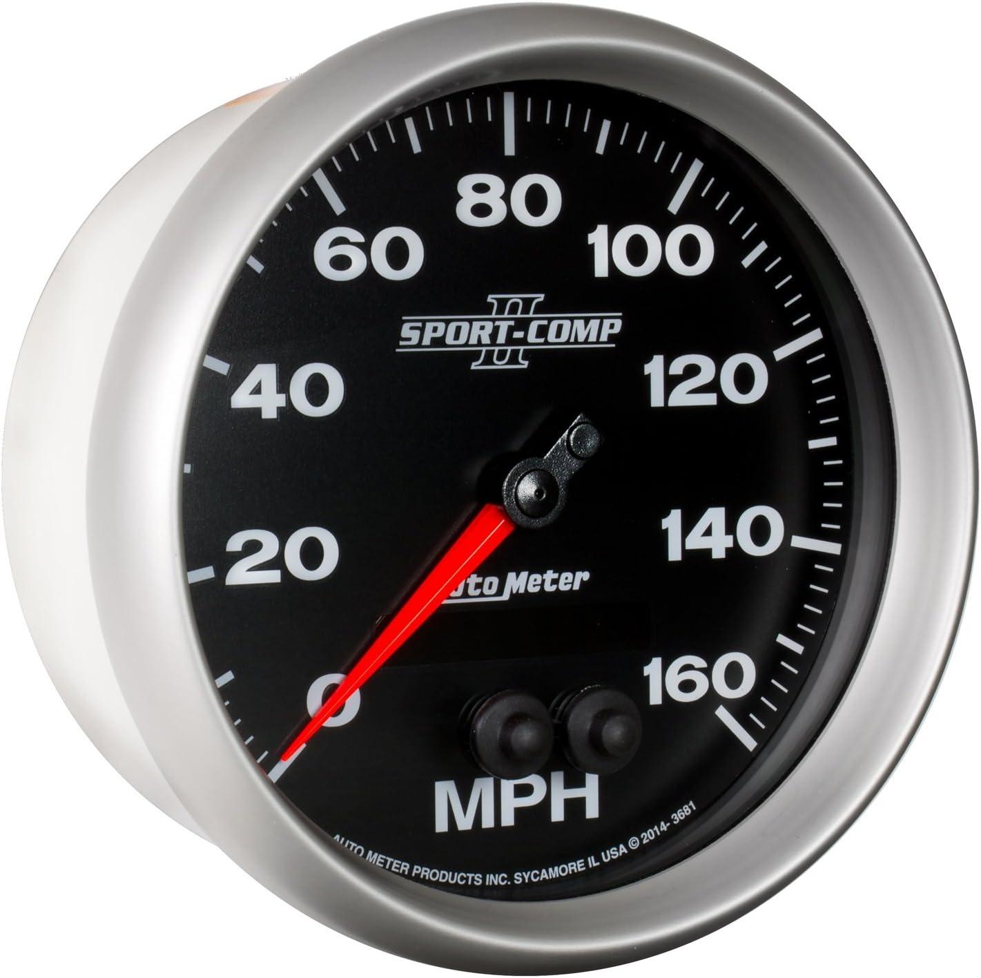 Auto Meter 3681 SPORT-COMP II 5 GPS Speedometer 0-160 MPH