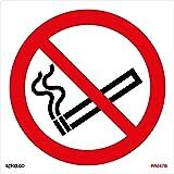 No Smoking Symbol Sign 100mm x 100mm – Self Adhesive (PRS.08G-SA)