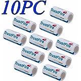 HeCloud 10PC CR123A 1400mAh Li-ion Lithium Photo Battery For Camera,Flashlight (single use battery)