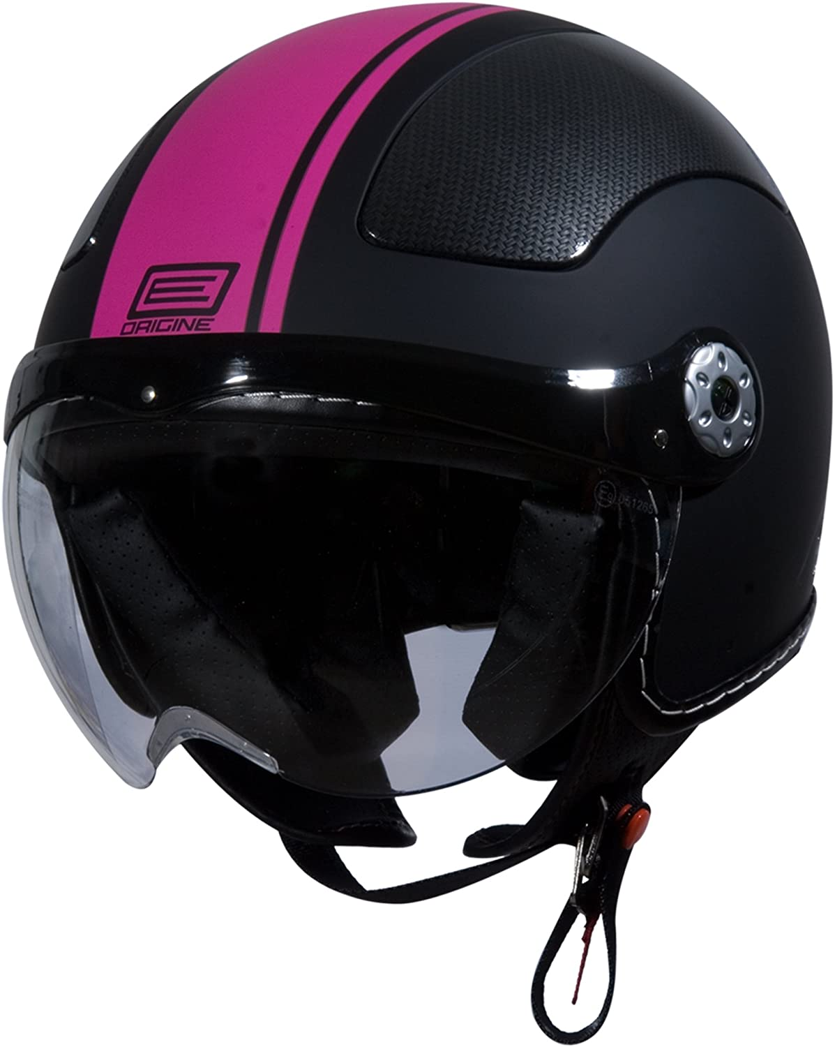 Pink Gara Flat Black, Medium Origine O528 Pilota 3//4 Helmet